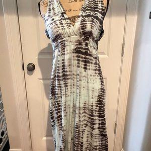 Maxi Dress to floor Tye-Die size small